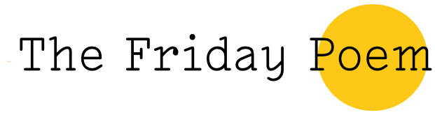 The Friday Poem logo - Black text on a whiter background with a yellow circle behind the word poem