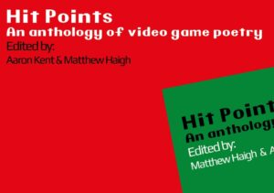 Close up of the two book covers, the Hit Points Anthologies, one red one green